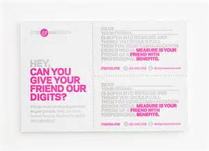 referral business cards fpo measure inc u me referral cards