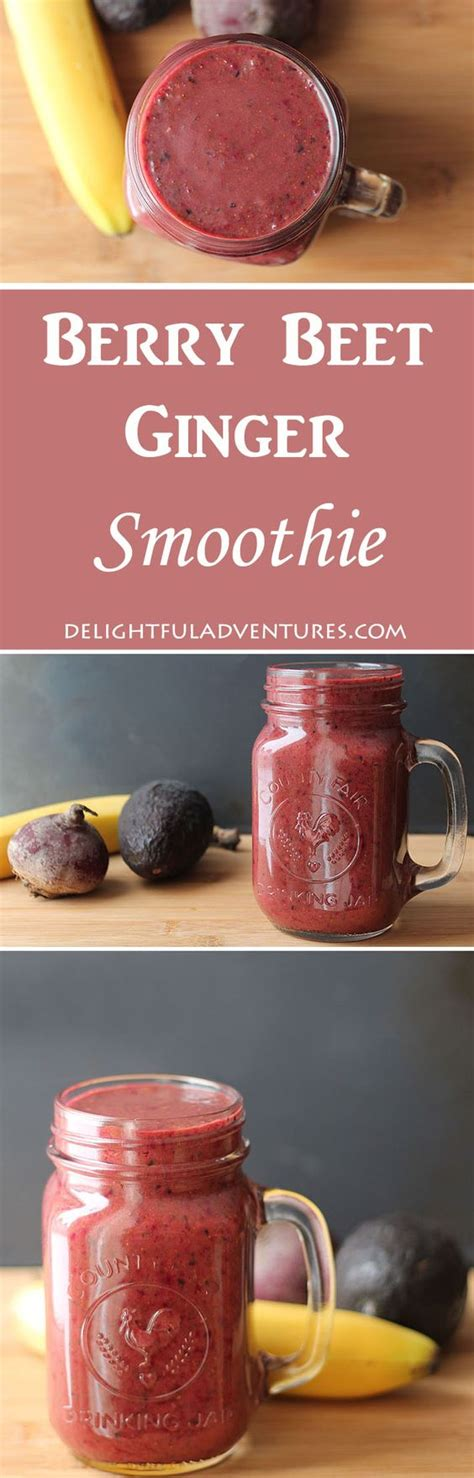 Detox With Zing by Berry Beet Smoothie Recipe Vegetables