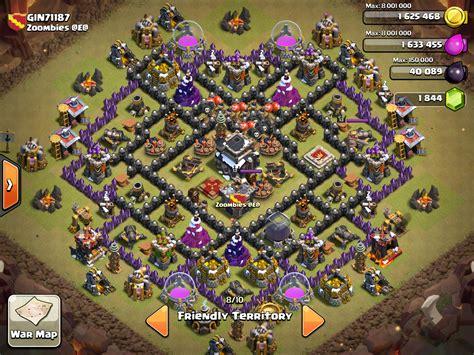 top base war th 9 coc 2015 town hall 9 war base 4 mortars 2015 version