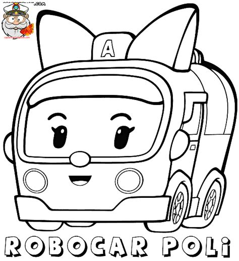 robocar poli coloring page coloring page