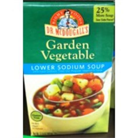 Dr Mcdougall S Right Foods Soup Garden Vegetable Lower Calories In Garden Vegetable Soup