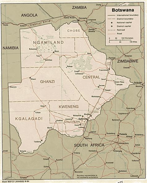 botswana map botswana maps perry casta 241 eda map collection ut library