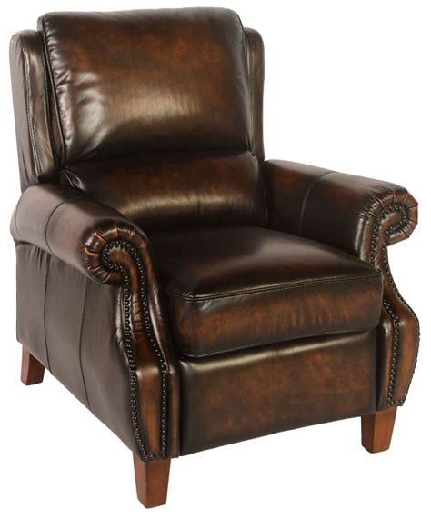 tan leather recliner prato black tan leather recliner from lazzaro wh 5070