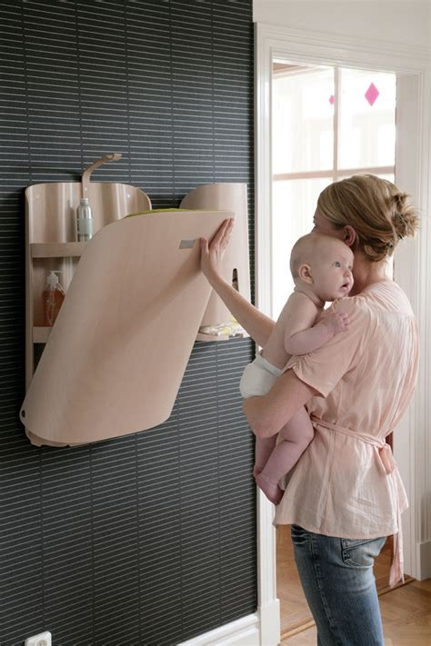 Wall Mounted Baby Change Table Ergonomic Baby Changing Tables By Bybo Digsdigs
