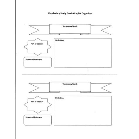 5 best images of vocabulary graphic organizers printable