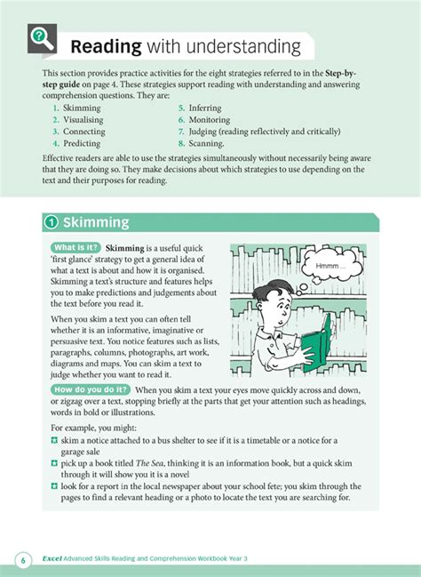 reading comprehension test advanced excel advanced skills reading and comprehension workbook