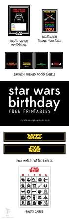 star wars party printables a no stress way to a galactic