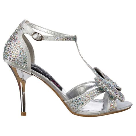 silver high heels with bows silver heels with bow is heel
