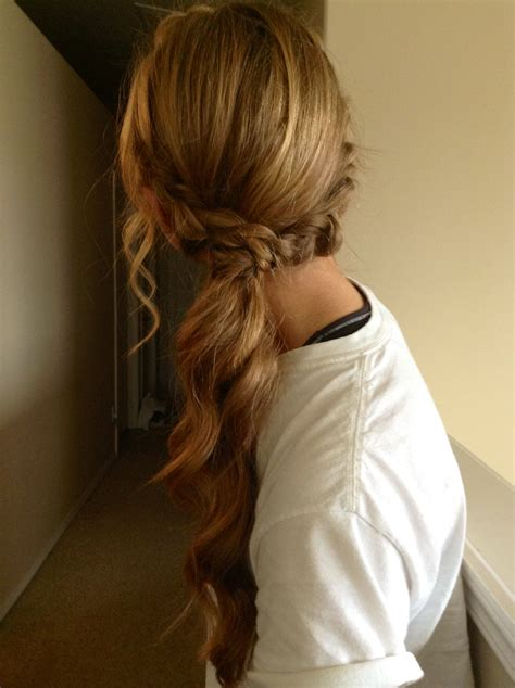 dressy ponytail hairstyles homecoming prom ponytail my hairstyles pinterest
