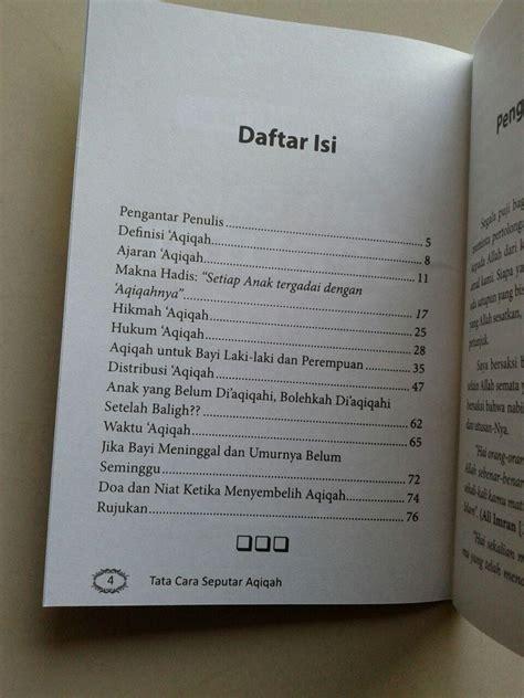 format buku saku buku saku seputar aqiqah berdasarkan al quran as sunnah