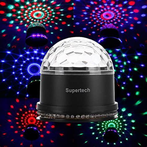 mini disco ball light party lights supertech muliti color changes sound actived