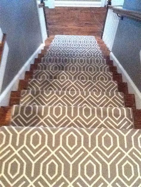 geometric pattern carpet for stairs geometric carpet runner on stairway ideas pinterest