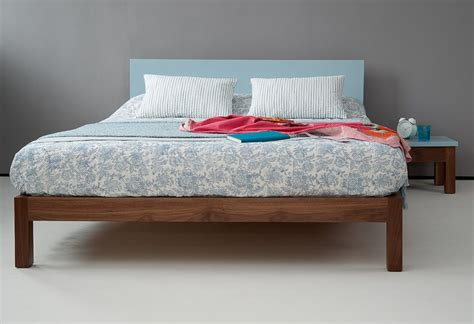 sol bedroom furniture sol walnut bed with painted headboard this is a lovely