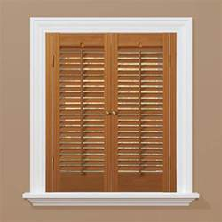 homebasics plantation faux wood white interior shutter