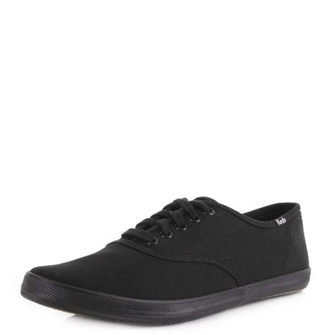 mens keds chion originals black cvo canvas lace up