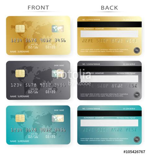 debit card template to understand quot vector set gold and blue credit debit card design