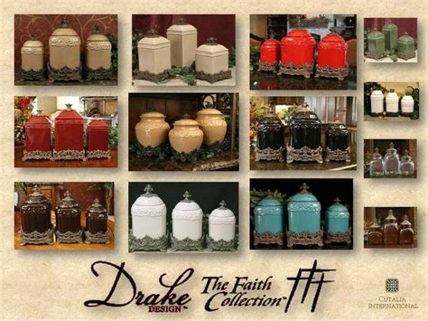 designer kitchen canister sets drake design faith canister collection drake design