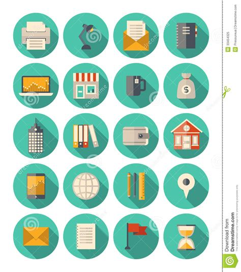business and finance modern icons set stock vector image