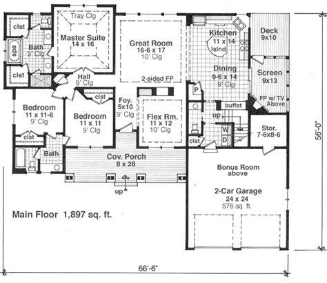 house plans monster country style house plans 1897 square foot home 1