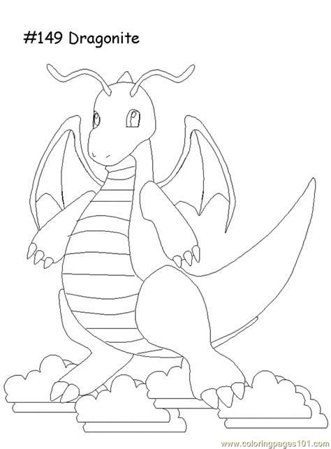 Cartoon Dragon Coloring Page