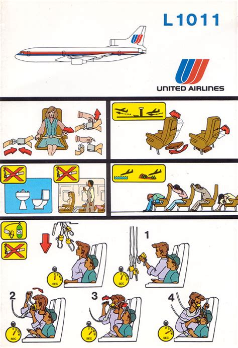 United Airlines Gift Card - airline safety card for united airlines l1011 12 85 jpg