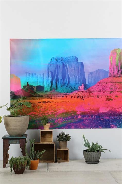 technicolor desert wall mural urbanoutfitters