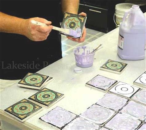 How To Make Handmade Tiles - ceramic tile working with slab and flat forms