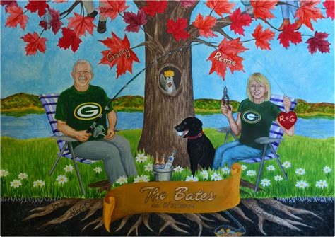 gifts for packers fans greenbay packers fan unique gift family tree paintings