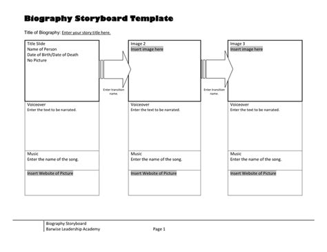 storyboard template in word and pdf formats