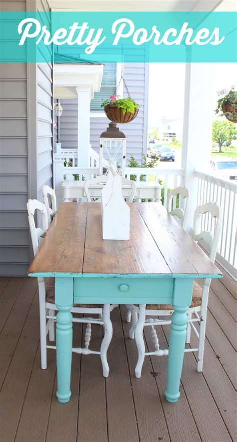 Front Porch Table 10 Front Porch Decorating Ideas Vintage American Home