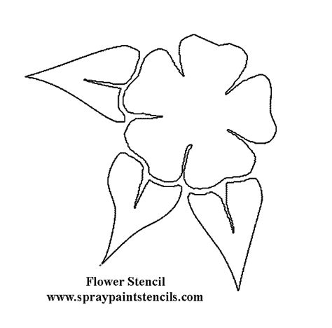 printable stencil designs flowers free flower stencils