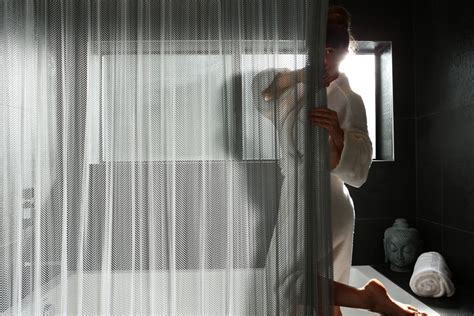 Duschvorhang Alternative by Cascade Coil Shower Curtains Provide Privacy And A