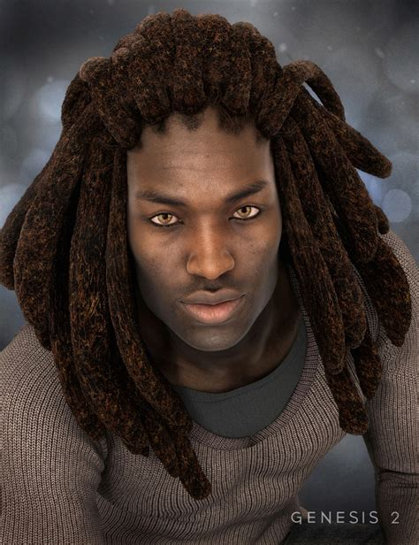 dreads with dreads for genesis 2 s 3d models and 3d