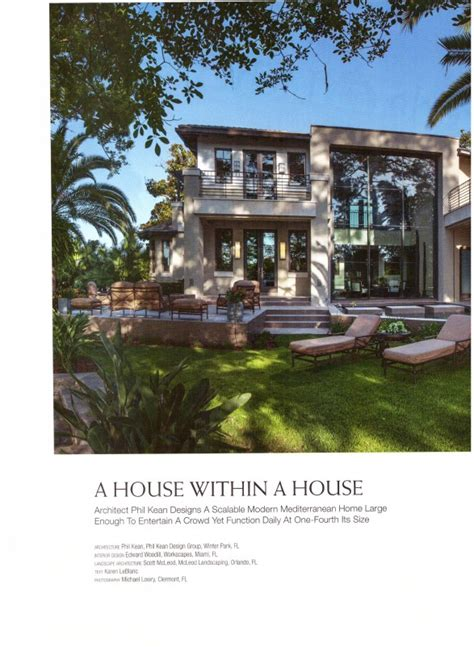 house design articles a house within a house article in florida design magazine the design tourist