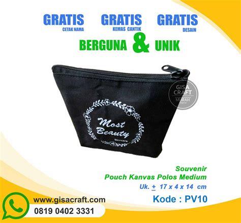 Tas Polos Medium souvenir pouch kanvas polos medium pv10 gisa craft