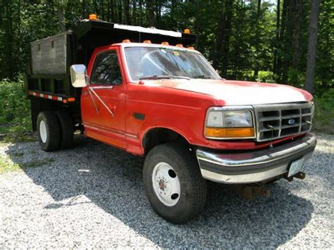 ford fsd dump truck 1991 red for sale 2fdlf47g0mca11208 1991 ford super duty dump truck 129 000 sell used ford f350 7 3 diesel 5 speed 4 x 4 dump truck 9 fisher plow sander no reserve in