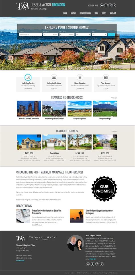 custom layout in wordpress washington view this responsive real estate website for