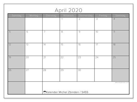 kalender april  ss michel zbinden de