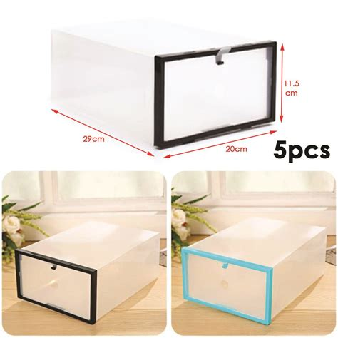 clear shoe storage boxes drawer 5 plastic drawer shoe storage box clear stackable