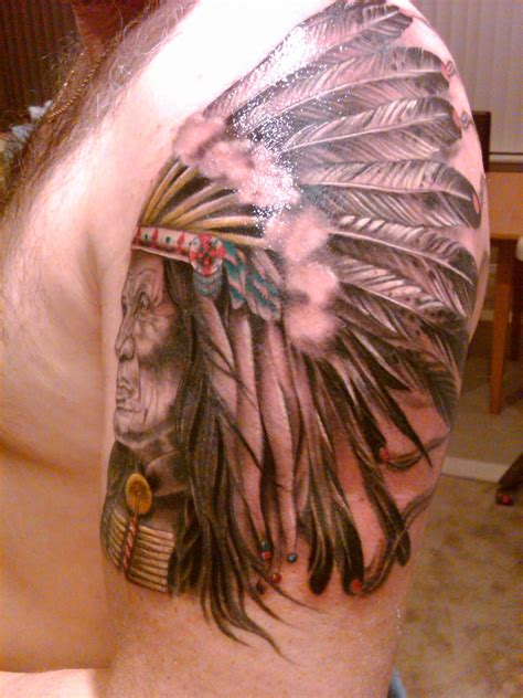 cherokee tattoo traditional indian warrior tattoos studio