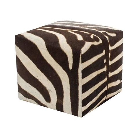 zebra ottomans zebra cube ottoman for sale at 1stdibs