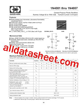 1n4001 diode specification sheet 1n4007 diode spec sheet 28 images zener diode specification data sheet 28 images 1n4736a