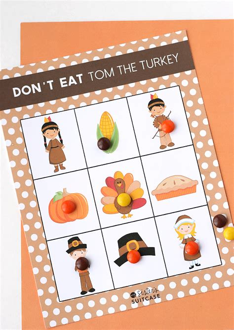 printable turkey bowling game printable thanksgiving game don t eat tom my sister s