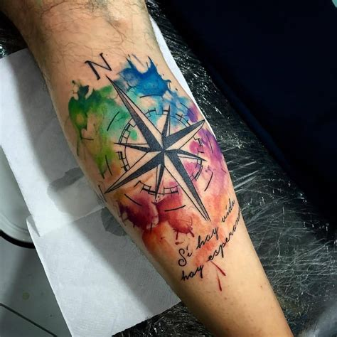 watercolor tattoo compass 80 best watercolor design ideas
