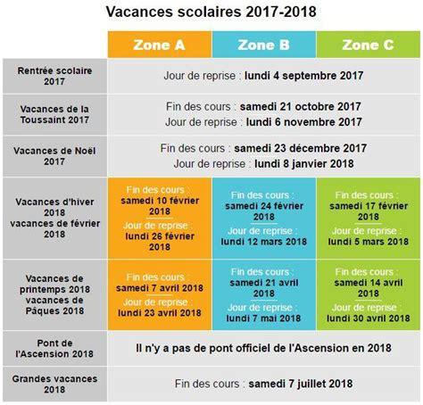 on conna 238 t les dates des vacances scolaires 2017 2018