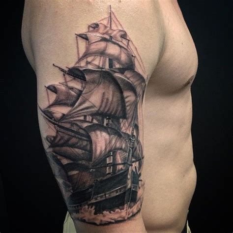 boat tattoos for men ship on s arm tattoos for