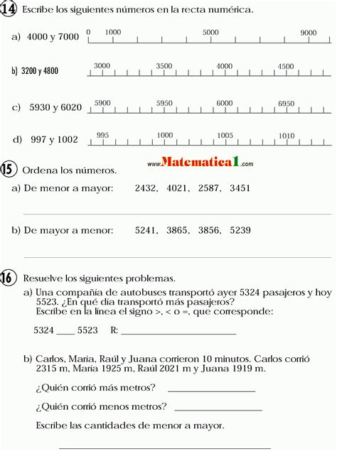 relacion de mayor que menor comparaci 211 n de n 218 meros hasta el 9999 mayor que menor