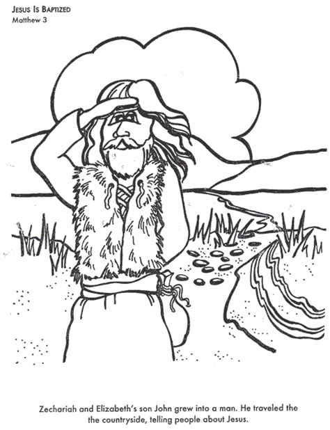 coloring pages john the baptist john the baptist coloring page bible helps pinterest