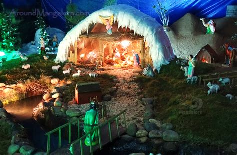 best christmas crib design 2015 crib decorations celebrations more around mangalore around mangalore