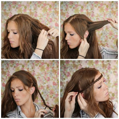 How To Do Hippie Hairstyles   the freckled fox hair tutorial the hippie headband